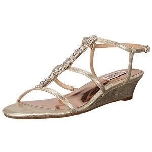 Badgley Mischka Carley II Sandals in Platino